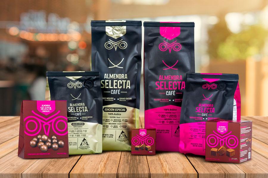 fotografía de productos, Café Almendra Selecta